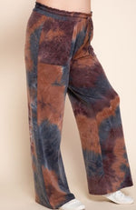 Load image into Gallery viewer, Hazy Night Tie Dye Wide Leg Lounge Pants