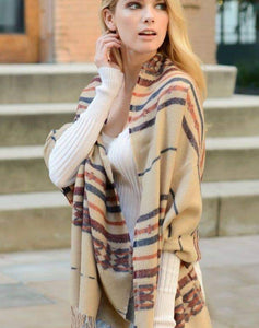 Colors Of The Wind Blanket Tassel Scarf