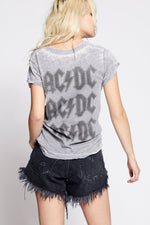 Load image into Gallery viewer, ACDC Thunderbolt Distressed Burnout Tee