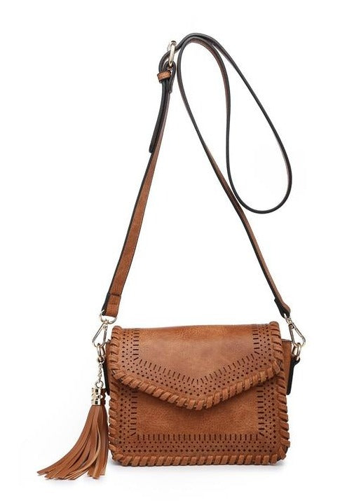 Lazy River Leather Fringe Crossbody