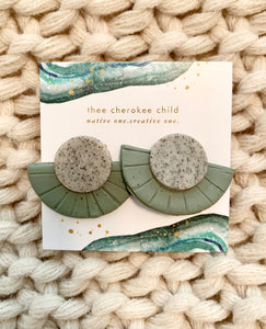 Handmade Clay Fan Earrings by Cherish Collective