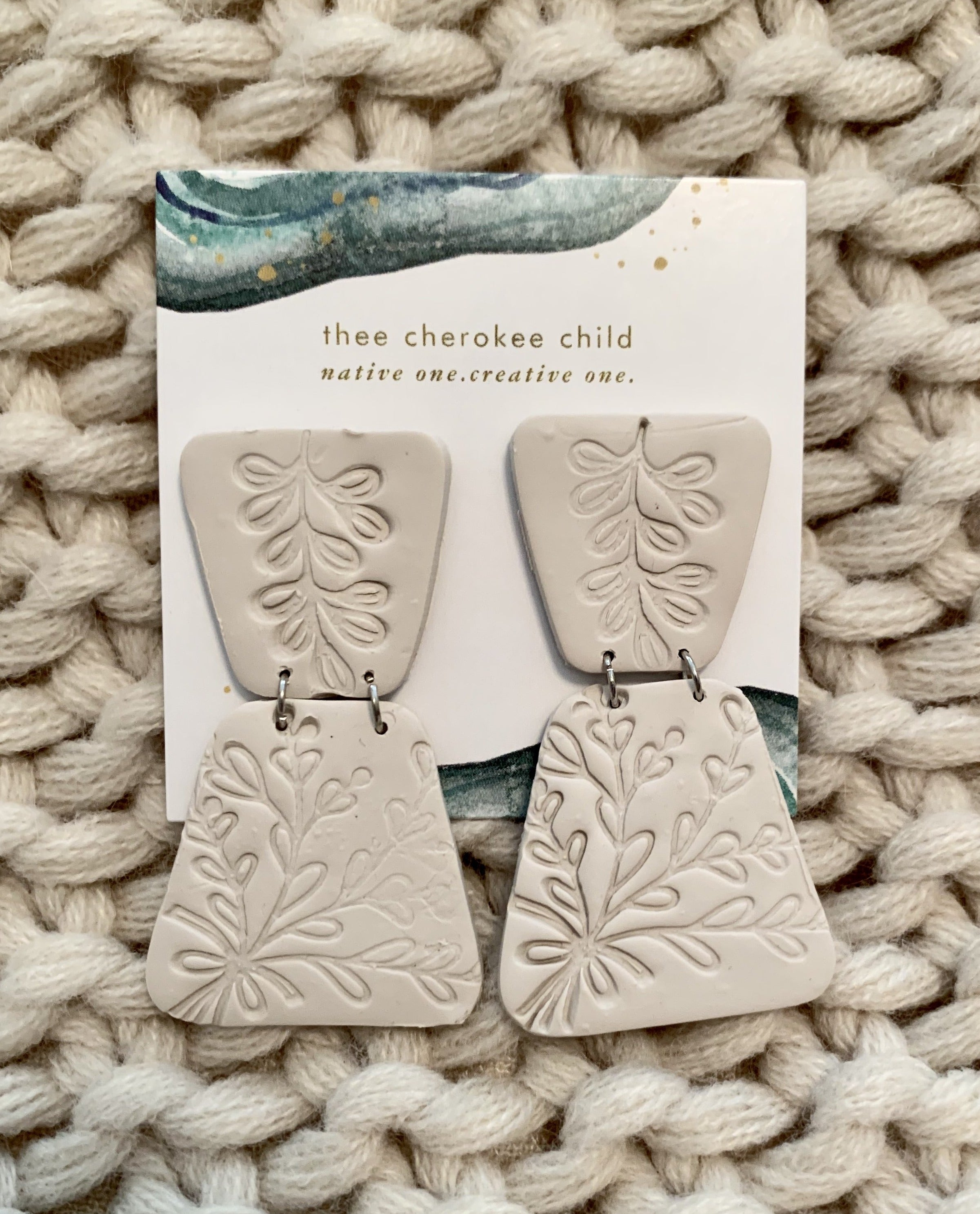 Handmade Clay Floral Earrings by Cherish Collective