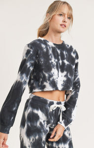 Crop & Roll Tie Dye Lounge Set