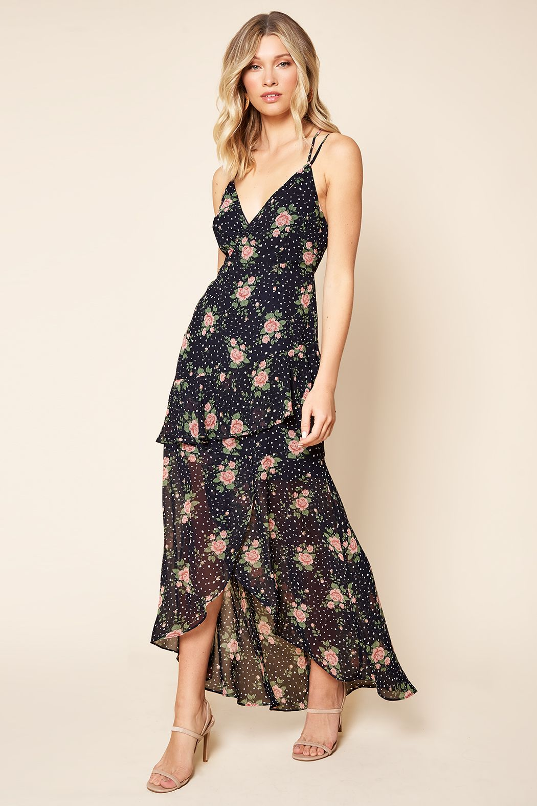 Thee Floral One High-Low Dress