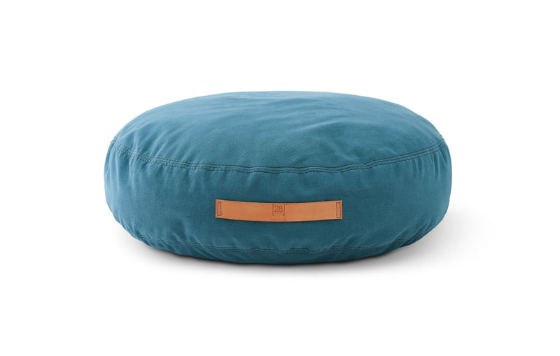 Duepuntootto Petrol Blue Canvas Elliott Round Dog Cushion