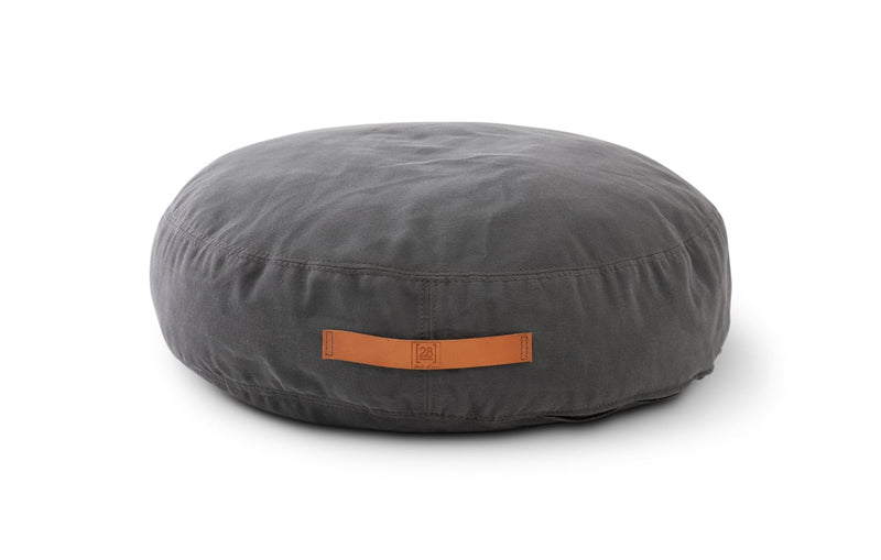 Duepuntootto Anthracite Canvas Elliott Round Dog Cushion