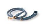 Duepuntootto Dusty Blue Ferdinando Dog Leash Italian Braided Leather