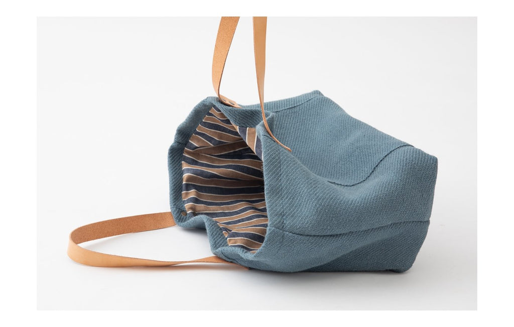 Duepuntootto Inge Dog Bag Blue Jute