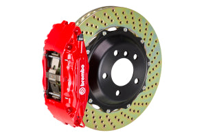 Brembo GT Drilled BBK 4 Piston 2 Piece Red Front