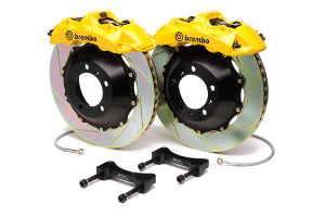 Brembo GT 6 Piston Front Slotted Rotors Yellow BBK