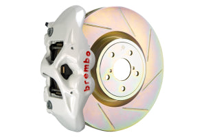 Brembo GT System Monobloc 4 Piston 326mm Slotted Front White