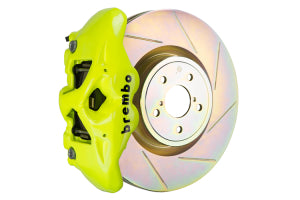 Brembo GT System Monobloc 4 Piston 326mm Slotted Front Fluorescent Yellow