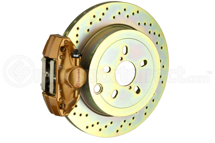 Brembo GT Systems 2 Piston Rear Gold Drilled Rotors