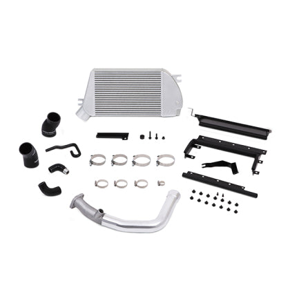 Mishimoto Top Mount Intercooler Kit Silver w/Polished Charge Pipe
