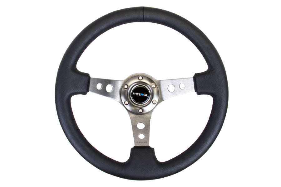 NRG Reinforced Steering Wheel 350mm 3'' Deep Gun Metal