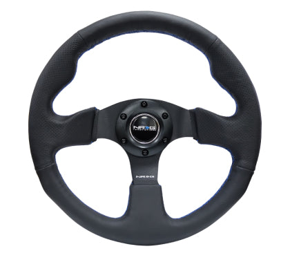 NRG Reinforced Steering Wheel 320mm Black w/ Blue Stitch