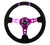 NRG Reinforced Steering Wheel 350mm 3'' Deep Purple w/Double Purple Stripes