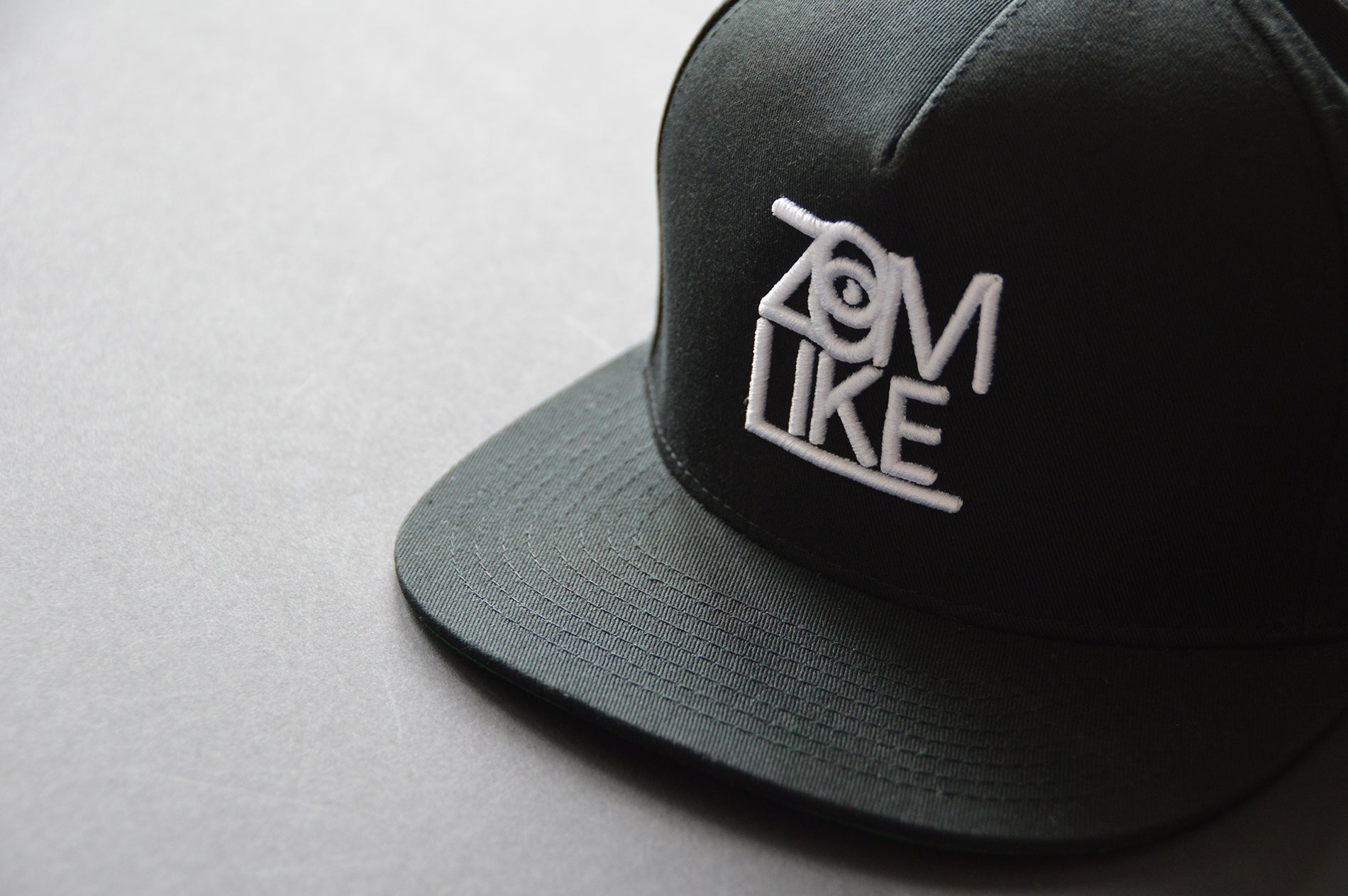 ZL Cap // black (green) - 2 Tone 5 Panel Snapback Cap