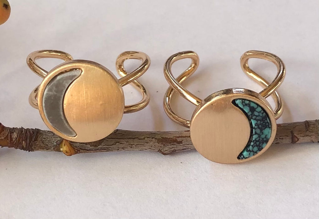 Crystal Moon Phase Rings