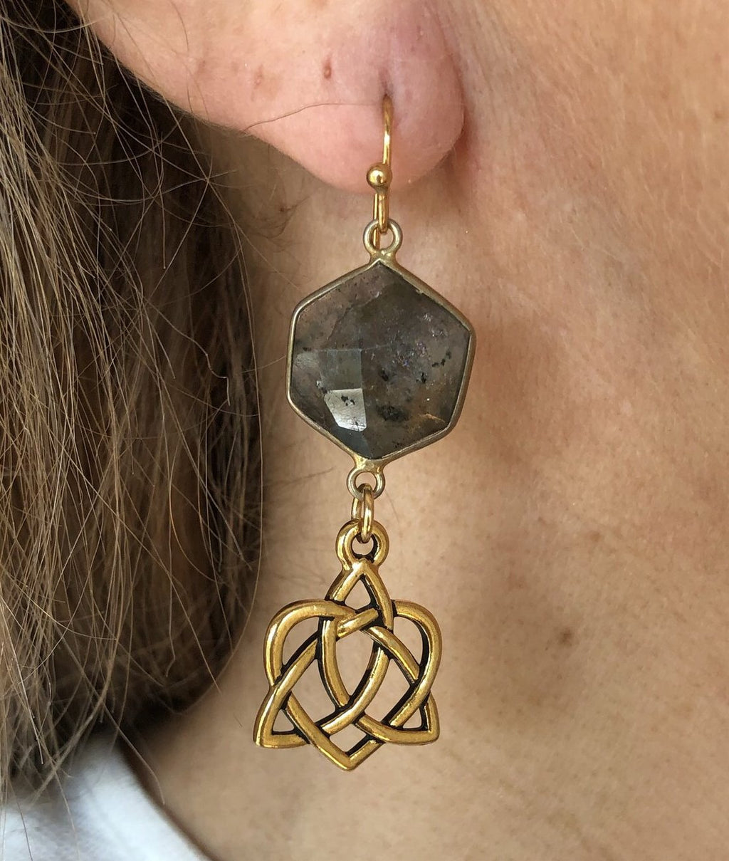 Labordorite Drop Earrings