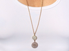 Moonstone & Gold Drop Necklace