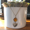 Citrine Geo Drop Necklace