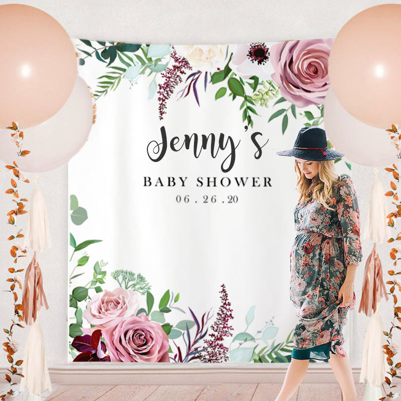Custom Baby Shower Backdrop C