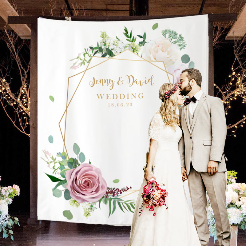 Custom Wedding Backdrop B