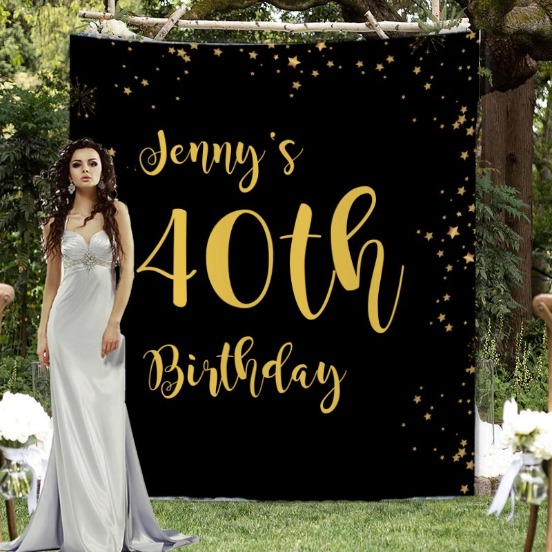 Custom Birthday Backdrop