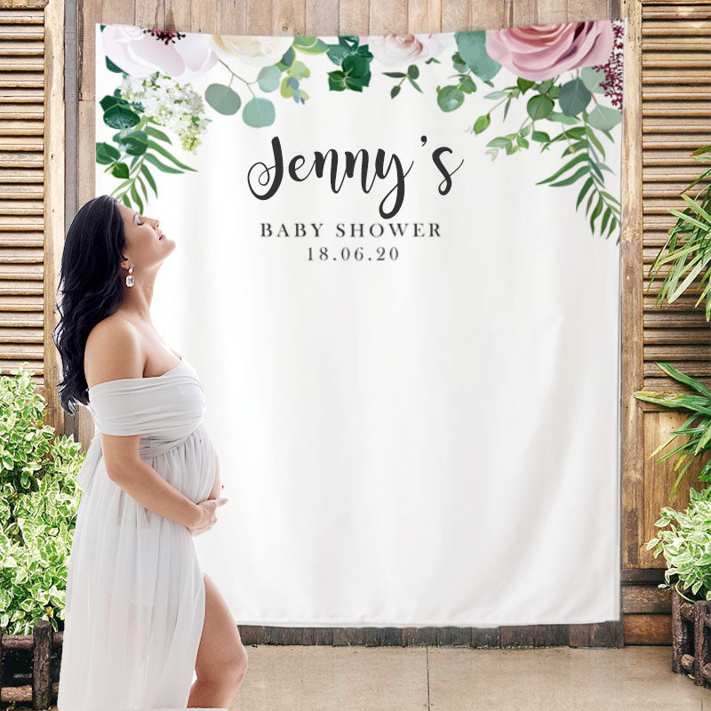 Custom Baby Shower Backdrop B