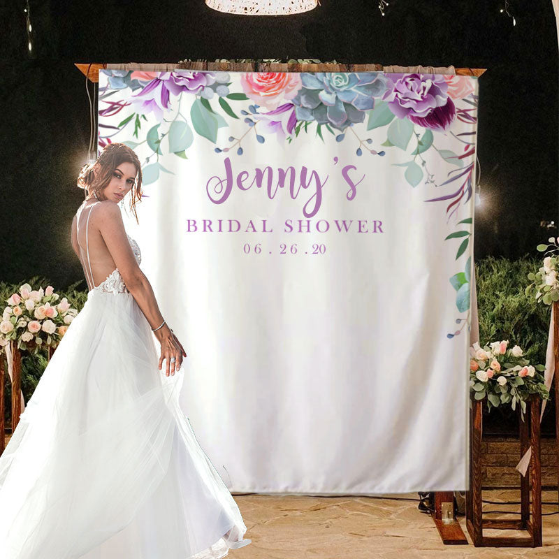 Custom Bridal Shower Backdrop E