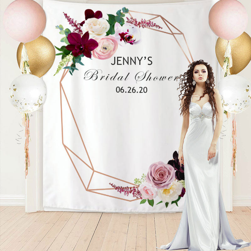 Custom Bridal Shower Backdrop F
