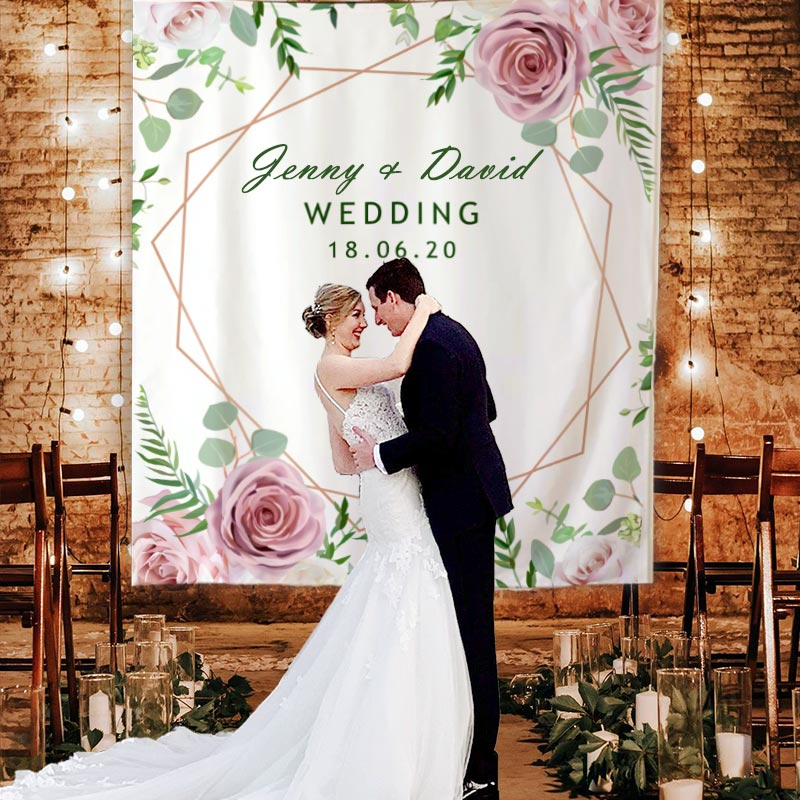 Custom Wedding Backdrop F