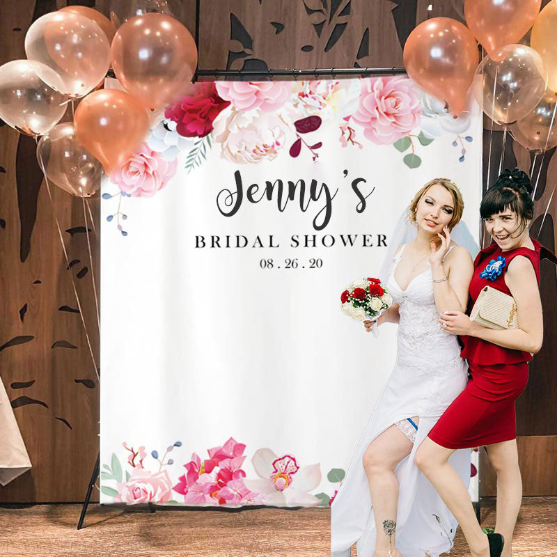 Custom Bridal Shower Backdrop H
