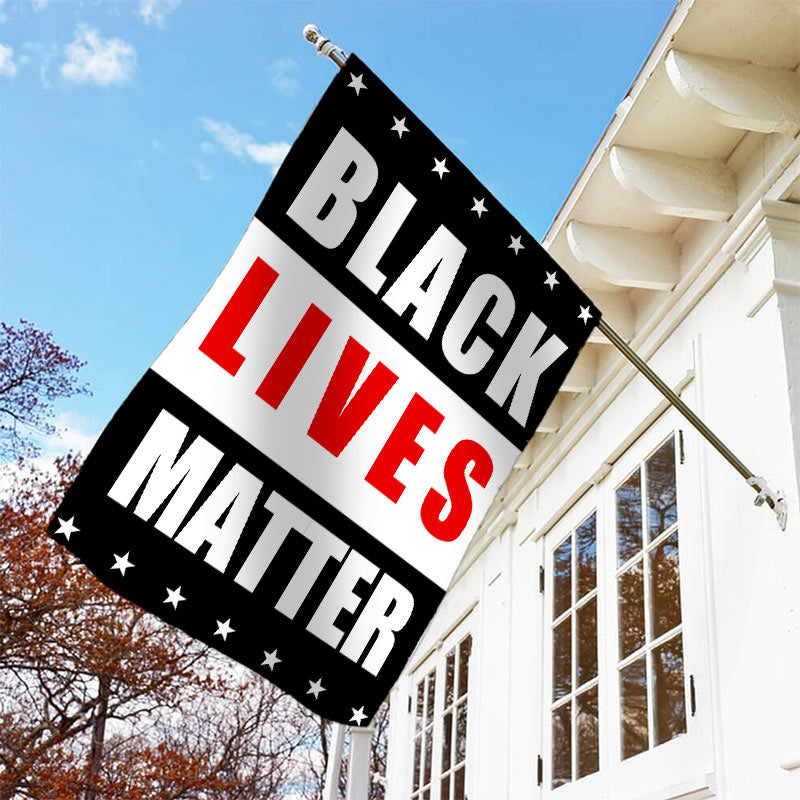 Black Lives Matter Garden Flag H