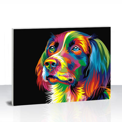 Paint by Numbers Kit -  Colorful Dog