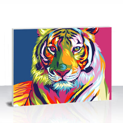 Paint by Numbers Kit -  Colorful Tiger