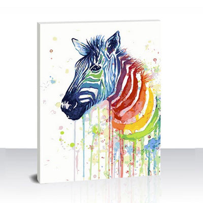 Paint by Numbers Kit - Painted Zebra