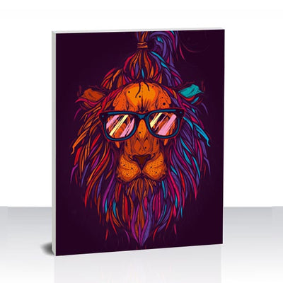 Paint by Numbers Kit -The Hipster Lion