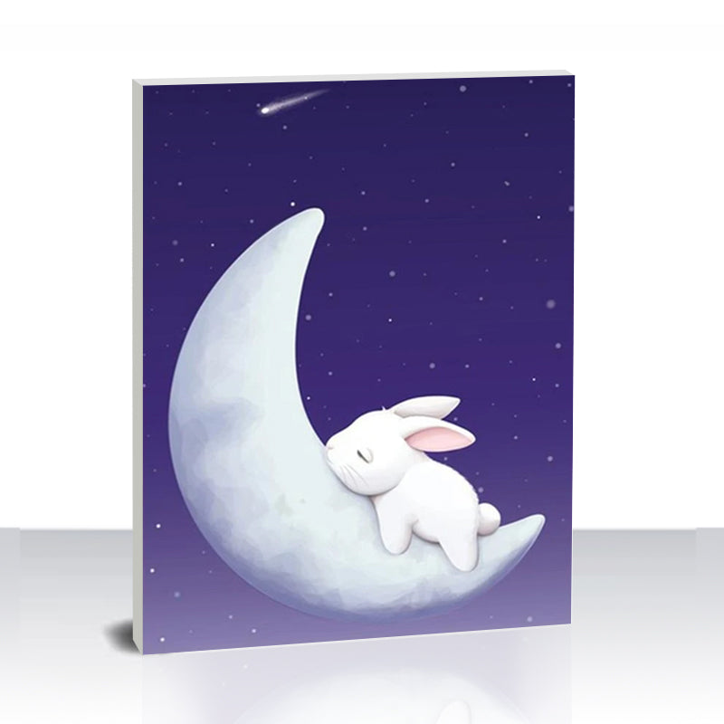 Paint by Numbers Kit -Rabbit on the Moon