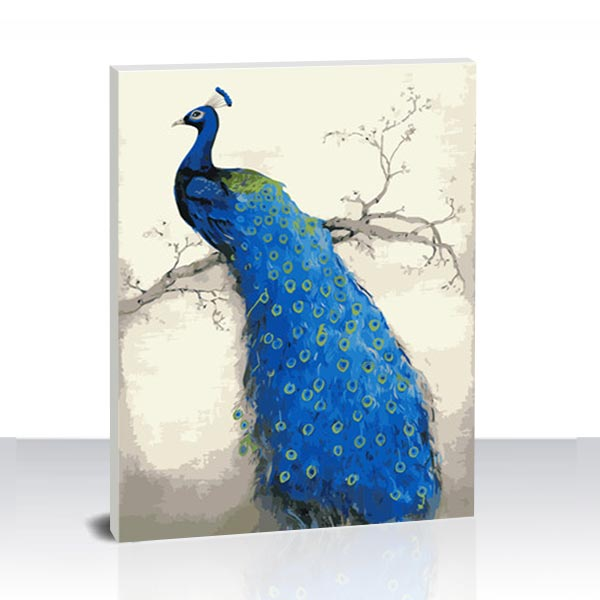 Paint by Numbers Kit -Blue peacock