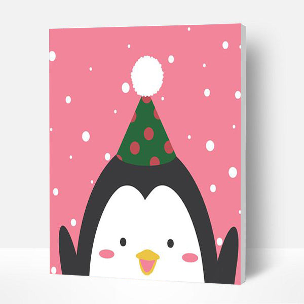 Paint by Numbers Kit -Happy Penguin
