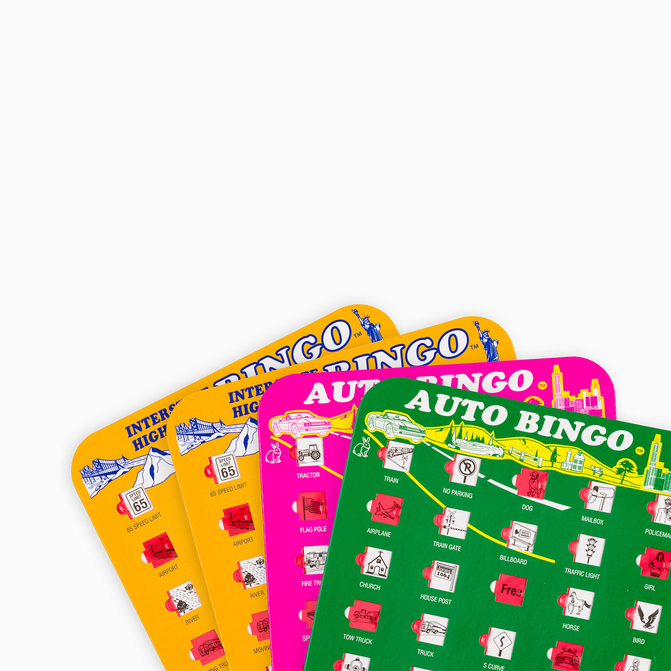 travel games, games for road trips, games for airplanes, auto bingo, bingo games, kids games for cars, bingo accessories, bingo cards for kids, bingo cards