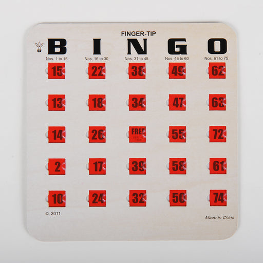 standard bingo cards, bingo cards, green bingo cards, blue bingo cards, woodgrain bingo cards, sliding window bingo games, finger tip bingo cards, regal games bingo cards, bingo accessories, woodgrain replacement bingo cards