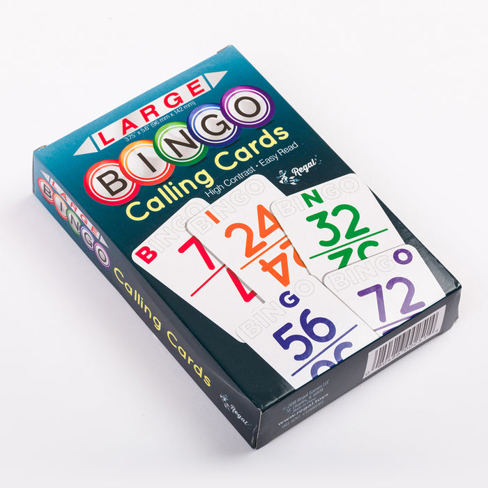 Jumbo Bingo 'Color Coded' Calling Card Deck with Durable Plastic Coating