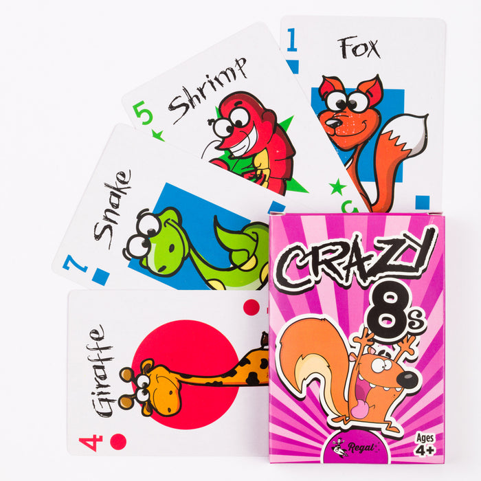 kids classic card games, kids card games, travel games, classic games, crazy 8s, regal games