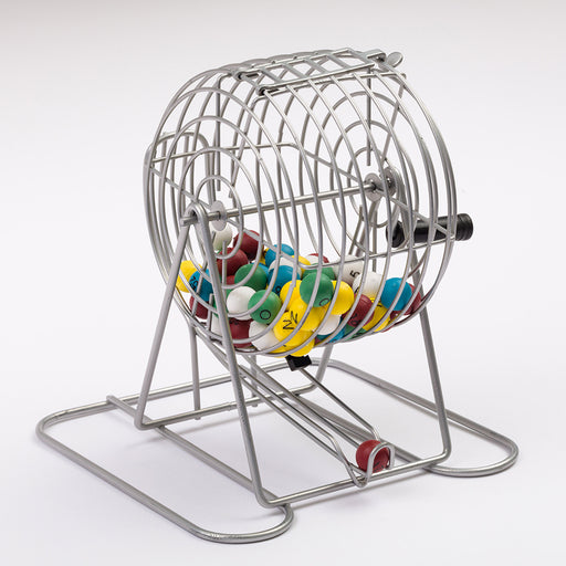 metal bingo calling cage, family bingo set, bingo sets, complete bingo sets for families