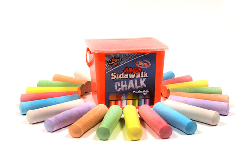 sidewalk chalk, kids chalk, colored chalk, arts and crafts chalk, arts and craft, jumbo kids chalk, large chalk sticks, colored chalk, chalk in bucket