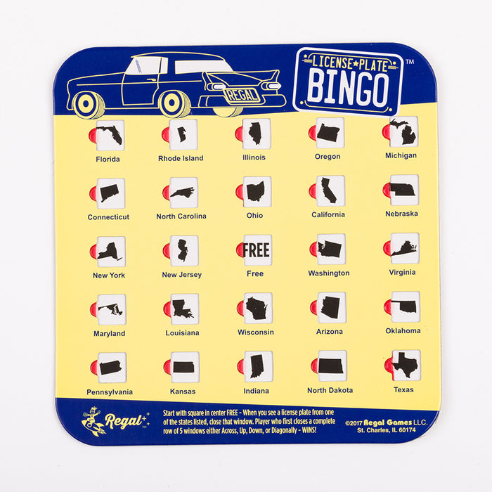 License Plate Travel Bingo 4 pack