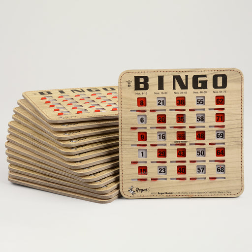 woodgrain rapid reset bingo cards, bingo card, regal games bingo cards, bingo accessory, bingo accessories, adult bingo, seniors bingo, childrens bingo, kid bingo, bingo sets